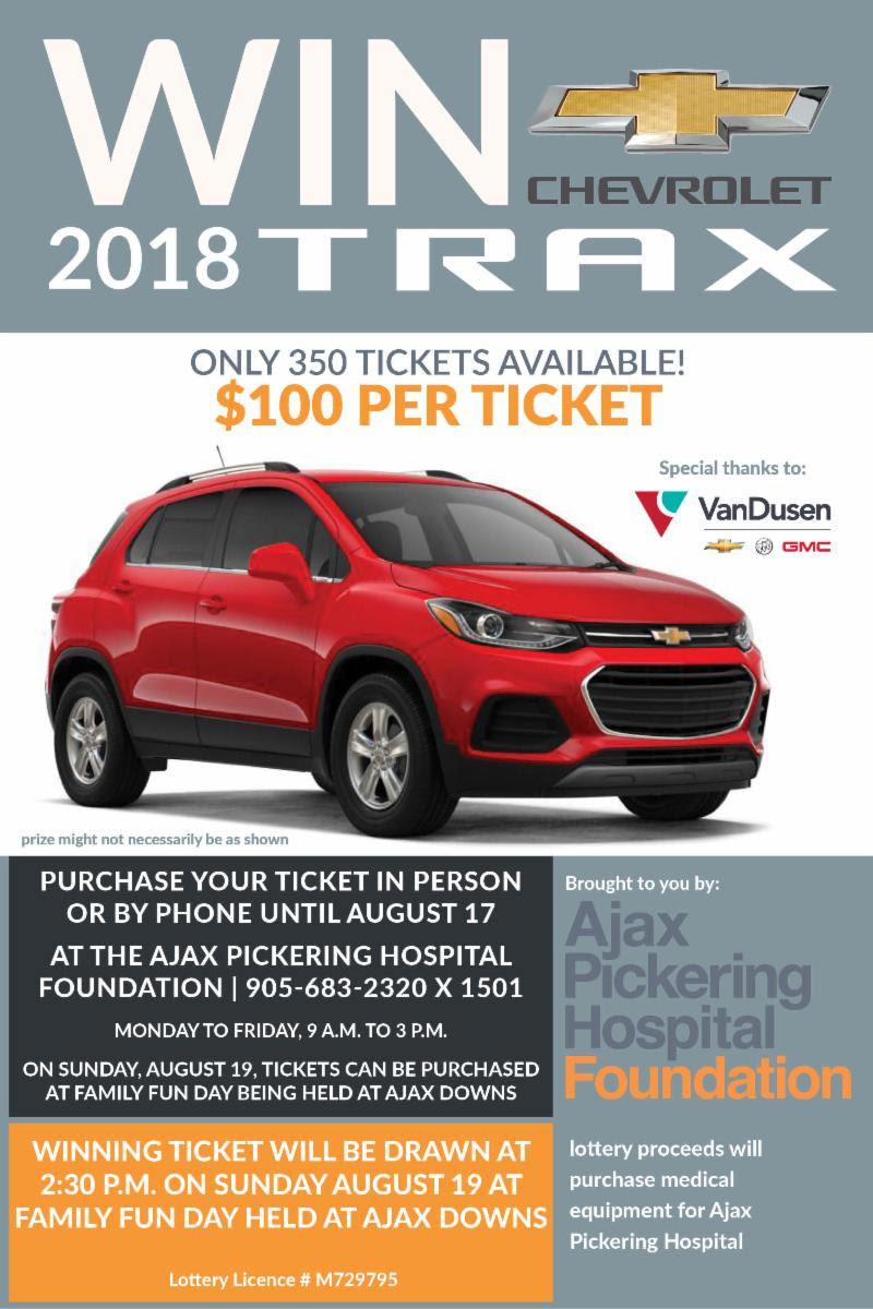 Ajax Pickering Hospital Foundation Win a 2-18 TRAX