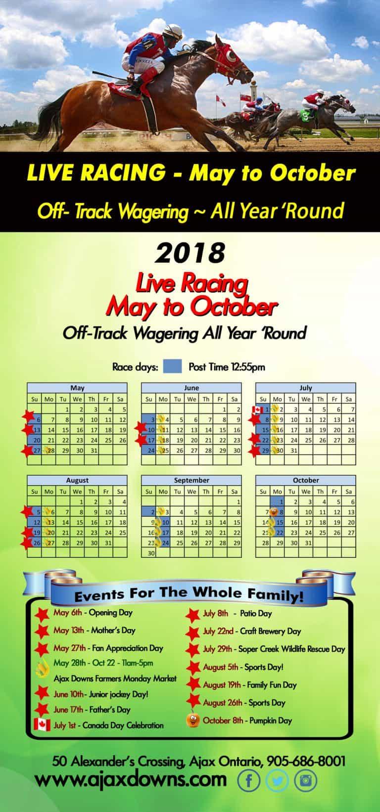 QROOI Race Dates 2018